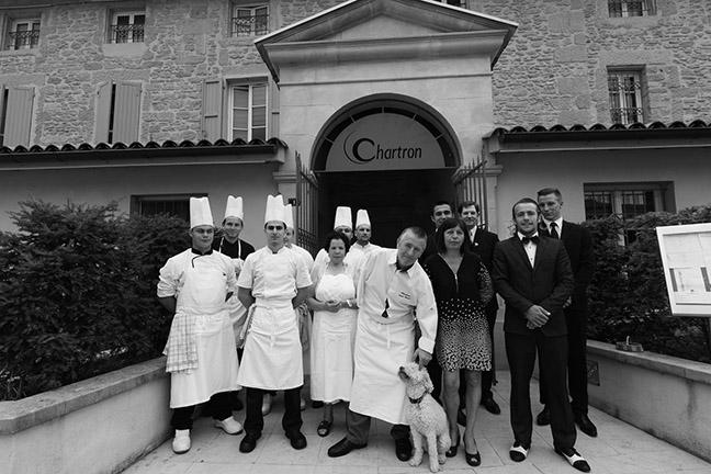 Equipe restaurant Bruno Chartron Saint-donat-Sur-L'Herbasse Drome